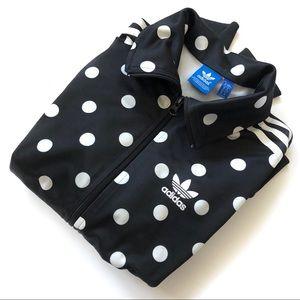 Adidas Black Polka Dot Track Jacket - size xs